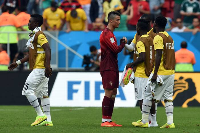 Portugal finished level on four points with second-place United States in Group G but with an inferior goal difference. Germany topped the group after beating the U.S. 1-0 in Recife. (Source: AP)