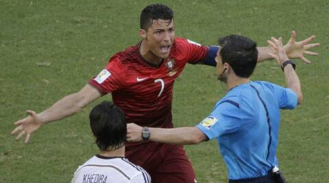 Cristiano Ronaldo (7), who is a different player for Real Madrid than he is for Portugal. (Source: AP)