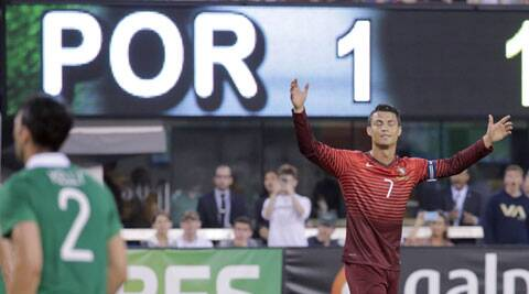 Cristiano Ronaldo, the World Player of the Year, almost scored in the 18th minute with a dipping free kick (Source: Reuters)