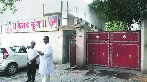 RSS office at Keshav Kunj is a cluster of low buildings spread over 2.5 acres in Delhi's Jhandewalan. (Prem Nath Pandey)