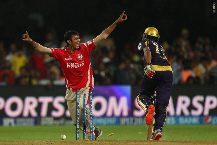 Akshar Patel celebrates the wicket of Shakib-al-Hasan who was run-out by George Bailey. Bailey's direct-hit turned the match in KXIP's favour but KKR's Manish Pandey was still out there in the middle and was taking his team towads victory. (Source: BCCI/IPL)
