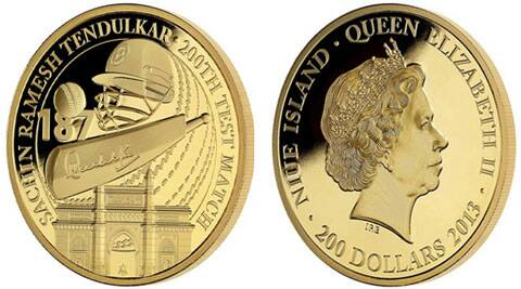 The East India Company's exclusive legal tender gold coin issued in honour of Tendulkar. (Source: The East India Company)