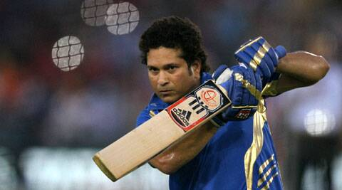 Mumbai Indians icon and former India great Sachin Tendulkar at the team's practice session ahead of an IPL match. (Source: IPL)