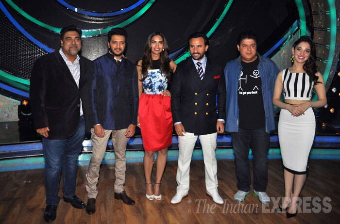 Bipasha Basu's absence during the promotional activities of soon-to-release 'Humshakals' has definitely raised some eyebrows. The cast including Ram Kapoor, Riteish Deshmukh, Tamannah Bhatia, Esha Gupta and Saif Ali Khan along with their director were busy promoting their film on the sets of reality dance show, 'Dance India Dance'. But looks like, the Bengali beauty seems to have detached herself from the movie. (Source: Varinder Chawla)