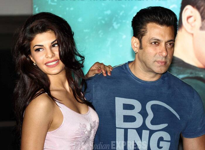 'Kick' lead pair Salman Khan and his onscreen ladylove Jacqueline Fernandez launched their film's first song 'Jumme Ki Raat' at an event on Friday (June 20). (Source: Varinder Chawla)