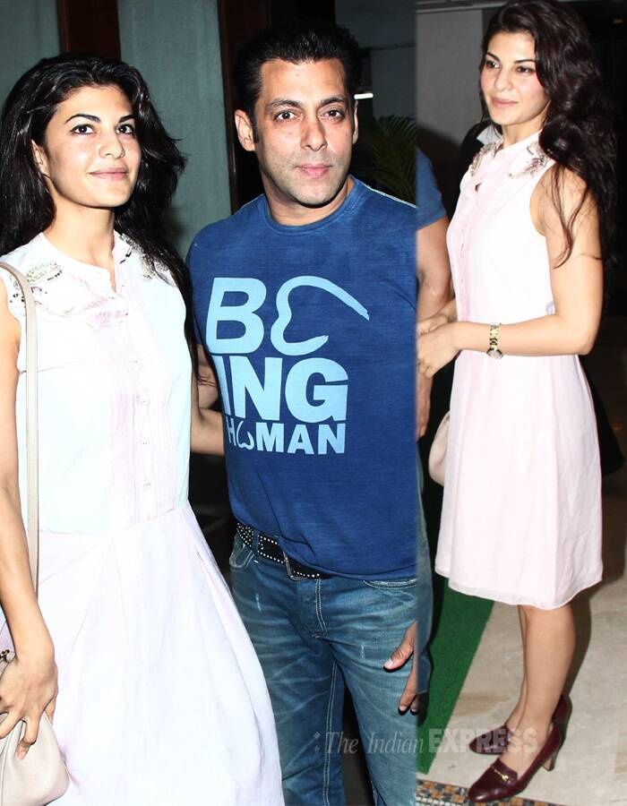 Jacqueline Fernandez can be seen accompanying Salman Khan for most of the parties. Rumours are that there could be something more than 'just friends' between the two.
