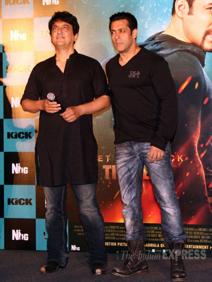 Salman Khan with his friend and director Sajid Khan. (Source: Varinder Chawla)