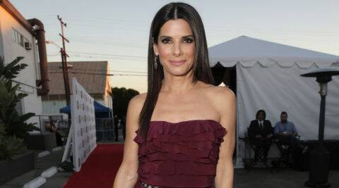 At the time of the break in, Sandra Bullock was inside her home with 4-year-old son Louis. (Source: AP)