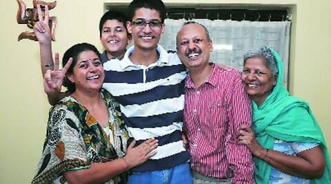 Prakash Gupta with his family