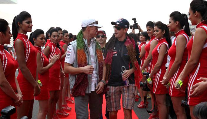 Schumacher has featured in 308 races in his career and has finished on the podium 155 times, including 91 titles. He also featured in the Indian Grand Prix in 2011 and 2012. (Source: Express Photo by Ravi Kanojia)