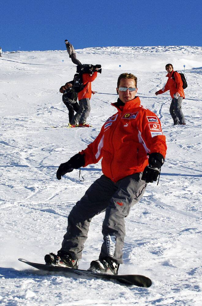 Schumacher lives in Switzerland and his accident happened on a family vacation as the German F1 champion was skiing with his 14-year-old son. He was hospitalized with severe head injuries which split his helmet as he crashed into rocks on the slope at the Meribel ski resort in the French Alps.(Source: Reuters)