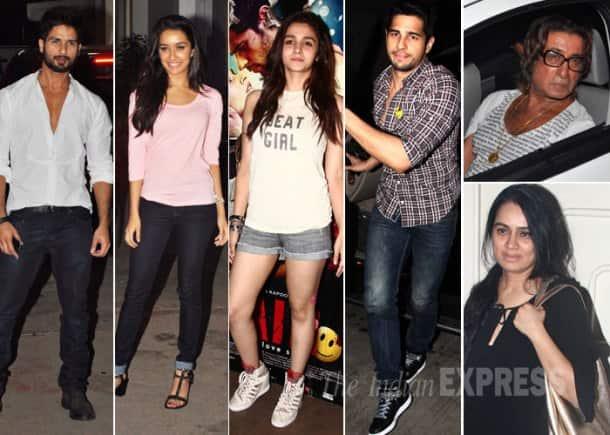 Ek Villain: Shraddha, Sidharth, Alia, Parineeti, Shahid, Varun at special screening