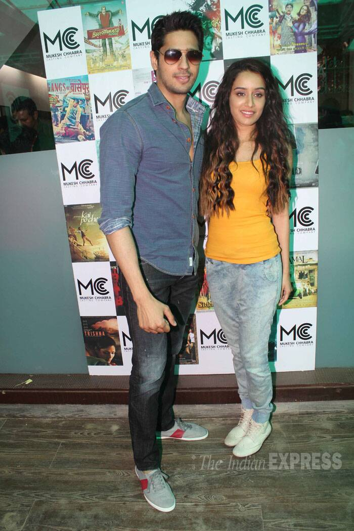 First up is her onscreen beau Sidharth Malhotra.  She will be seen opposite Sidharth in 'Ek Villain.' (Source: Varinder Chawla)