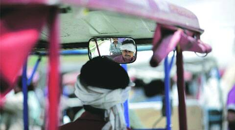 Each municipal zone will have colour-coded e-rickshaws, with vehicles displaying drivers' cellphone numbers.  ( Express Photo by: Praveen Khanna )
