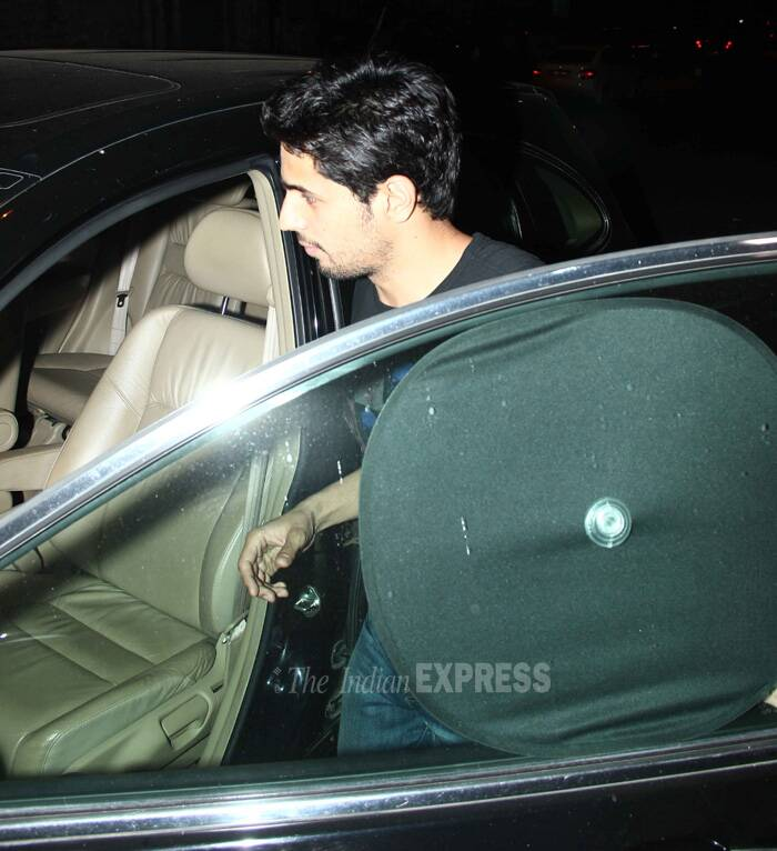 Sidharth makes a quick exit. (Source: Varinder Chawla)
