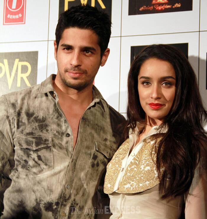 Bollywood's newest Villains on the block,  Shraddha Kapoor and Sidharth Malhotra lifted the sombre summer mood of the national capital as they came over to promote their upcoming film 'Ek Villain'. 'Ek Villain' also starring Riteish Deshmukh will release next Friday. (Source: Photo by Ajnavi Tarannum)