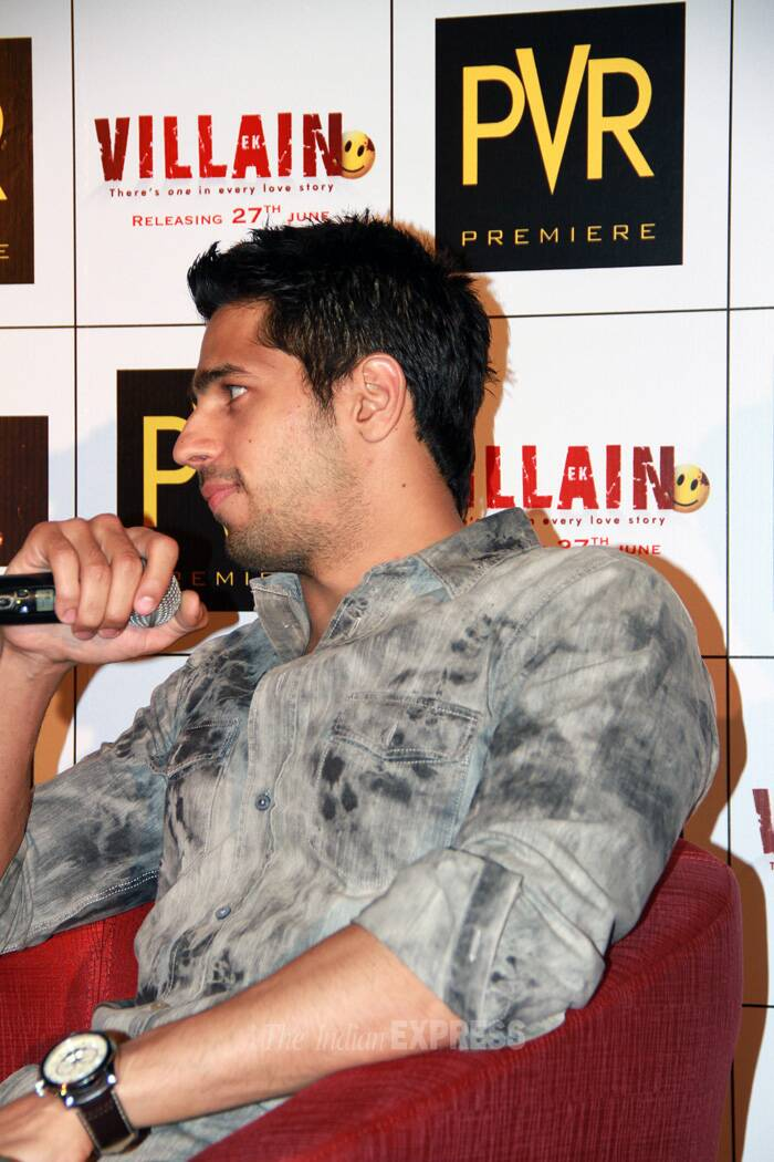 "At the event Sidhrath said, ""It was so far the toughest to get into the character of 'Ek Villain' to bring in the angry emotions with that intensity. More than anger it was tough to get the emotion correct. Mohit (Mohit Suri, the director) knows what he wants and if you know what you want, it's easier to get it,"" said Sidharth Malhotra said. (Source: Photo by Ajnavi Tarannum)"