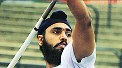 Khaira picks gold at Lucknow meet, heads for C'wealth Games.  Source Express Photo