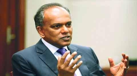 Singapore Foreign Minister K Shanmugam. (Source: Reuters)