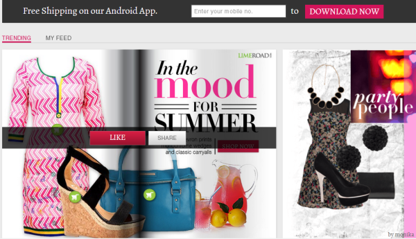 A webpage of Neha Dhupia's fashion portal