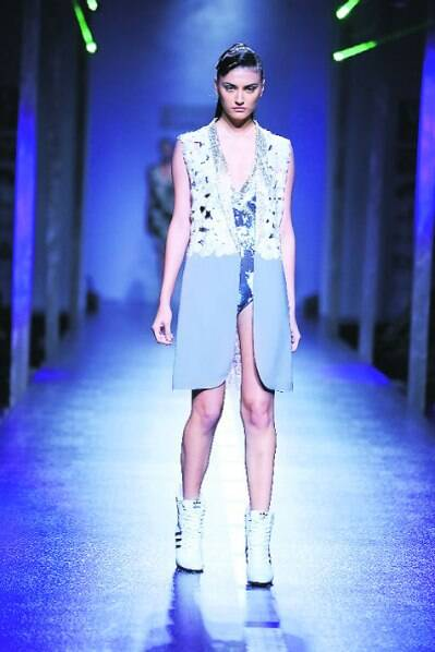 Sneakers made an appearance in Namrata Joshipura's show at WIFW SS 14