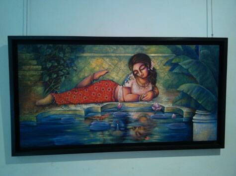 A reflection of an absent Rama on reclining Sita.  Source: Express Photo