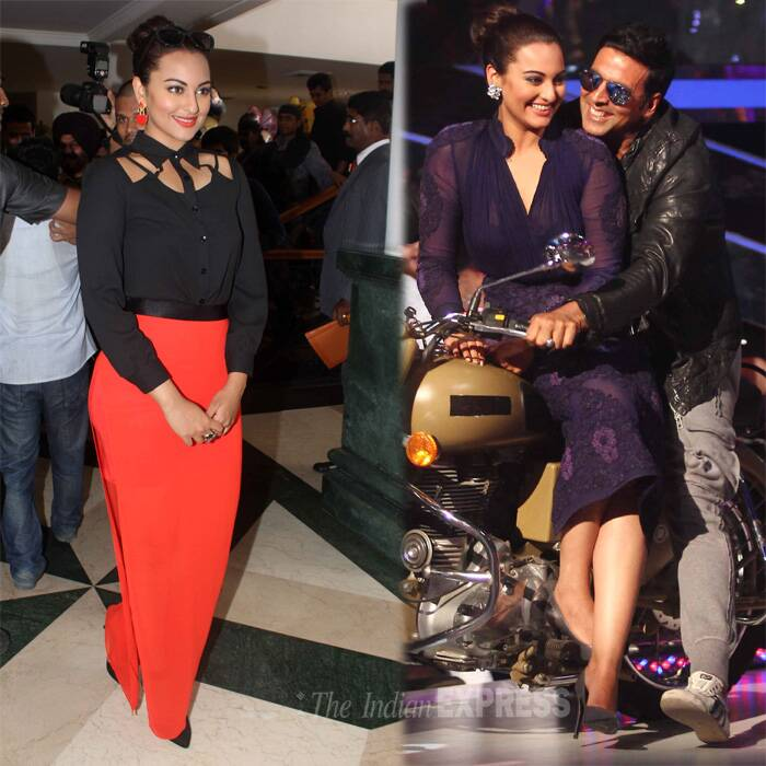 Sonakshi is said to have become quite a stylista nowadays. The beauty gained points for her red carpet style during this year's award season. (Source: Varinder Chawla)
