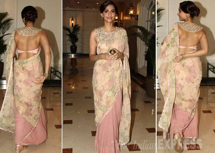 Sonam's back sure caught a lot of attention. (Source: Varinder Chawla)