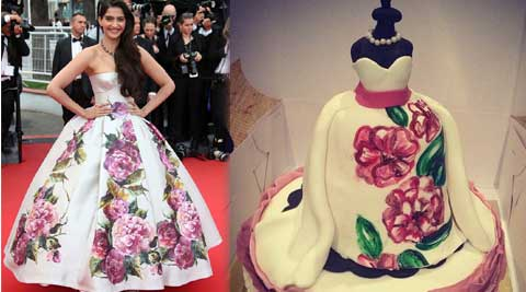 Sonam Kapoor was presented with a birthday cake worthy of her stylista image.