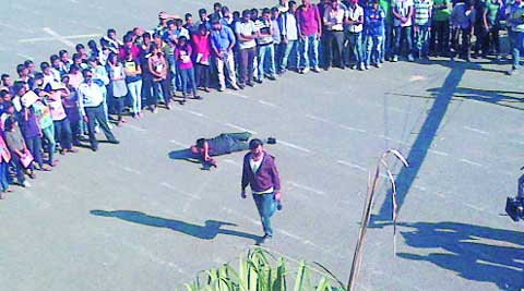 A fim shoot in progress at the College of Agriculture, Pune. (Source: Atikh Rashid)