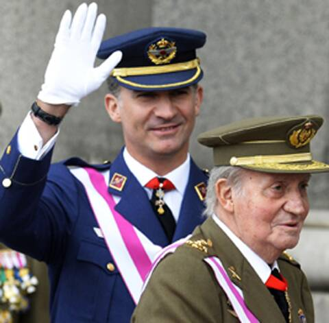 King Juan Carlos, Crown Prince Felipe