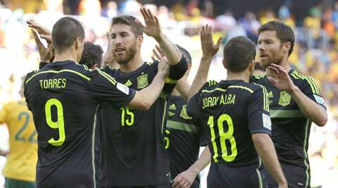 Fernando Torres extend Spain's lead to 2-0 by what was his first World Cup goal since 2006 against Germany. (Source: AP)