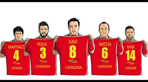 Some of Spain's most decorated footballers belong to two regions who have been pushing for national status while playing in the Spanish league (Illustration by Pradeep Yadav)