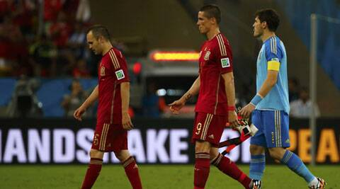 Spain bowed out of the World Cup after a 0-2 defeat to Chile marking an em=nd to the famous tika-taka on Wednesday. (Source: Reuters)