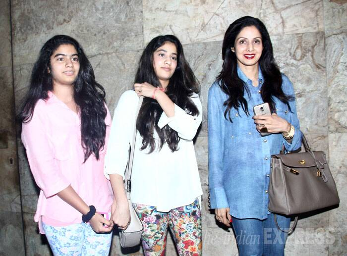 Mohit's aunt and veteran actress Sridevi was also present along with both her daughters, Jahnvi and Khushi. (Source: Varinder Chawla)