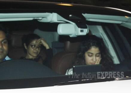 Sridevi, daughter Jahnvi hide from the camera on their outing