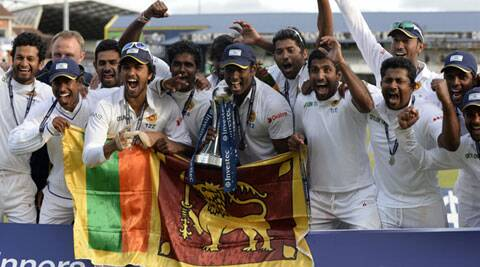 Sri Lanka players are ecstatic after winning the series 1-0 against England. (Source: Reuters)