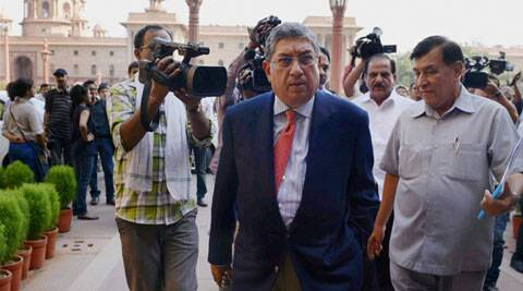 The BCCI has re confirmed Srinivasan's candidature for the top ICC post. (Source: PTI)