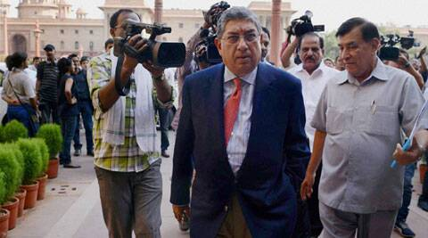BCCI was able to re-confirm Srinivasan's name once the decks were cleared with Supreme Court refusing to hear a petition from CAB which urged the court to prevent the BCCI's president-in-exile from taking charge as the ICC chairman. (Source: PTI)