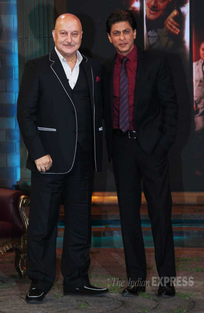 Shah Rukh Khan appeared on Anupam Kher's new television show, 'Kucch Bhi Ho Sakta Hai' for an inspirational chat. (Source: Varinder Chawla)