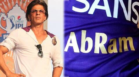 SRK got a custom made team jersey for his youngest child, one-year-old AbRam.