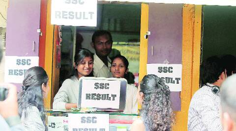 Girls at a cybercafe after SSC results were announced online on Tuesday. ( Source: Express photo by: Sandeep Daundkar )