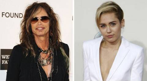 Miley Cyrus retweeted Steven Tyler's video but it is not clear whether the two singers met up. (Source: Reuters)