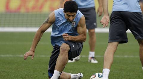 Luis Suarez will face up to five of his teammates from Anfield (Source: Reuters)