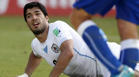 Luis Suarez was served a 10-game suspension last year after biting Chelsea's Branislav Ivanovic (Source: Reuters)