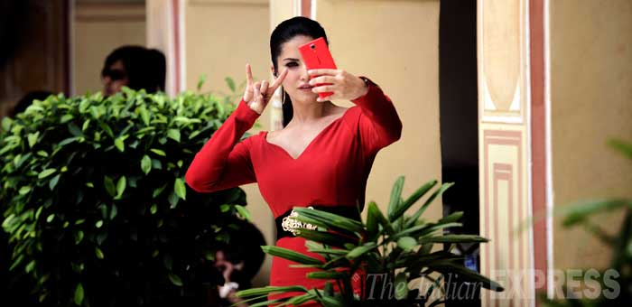 "In an industry that is perceived to be exploitative, Sunny Leone has categorically stated that she joined the adult entertainment business of her own accord.  ""I choose to own a production house so I can produce, own, direct and distribute my own content and of others. It was the logical step to take to be successful in the business."" (Source: Express Photo by Praveen Khanna)"
