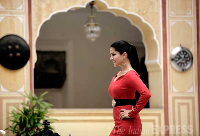 "Sunny Leone further says:  ""I don't know how to describe the 'real' Sunny Leone.""  (Source: Express Photo by Praveen Khanna)"