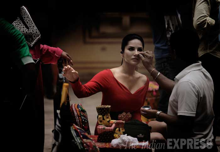"""People don't know that I'm goofy and nerdy, and I might be in this body, but I'm completely different from what people think I am,"" says Sunny Leone, during an exclusive interview.  (Source: Express Photo by Praveen Khanna)"