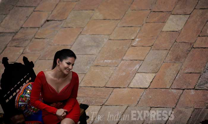 "Sunny Leone says:  ""People think they know me. They know the actor, but on this show, they will get to see me as I am. They will get to know me.""(Source: Express Photo by Praveen Khanna) sunnyleonesmiles"