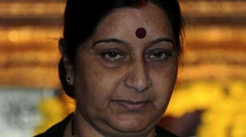 "Swaraj said India shared its longest international boundary with Bangladesh. ""It's a porous border. People living on the border are poor and the areas are densely populated. (Source: PTI)"